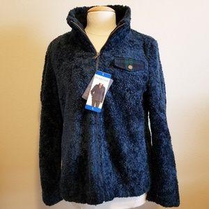 Pendleton Ladies' Fuzzy Zip Jacket Blue NWT
